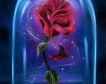 "Print ""Enchanted Rose"""
