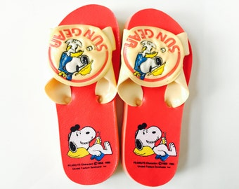 Vintage Snoopy Child Sandals 1960s