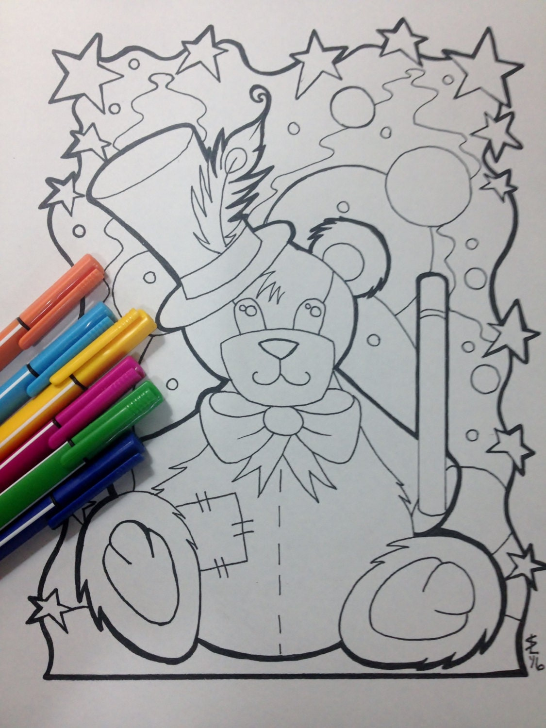 whimsical bear coloring pages - photo#20