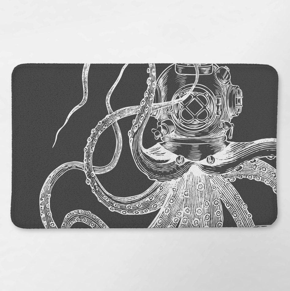 octopus bathroom nautical bath rug octopus bath mat