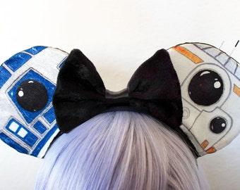 The 'Little Droids' Ears - Disney Star Wars R2D2 BB8 Mickey Inspired Ears