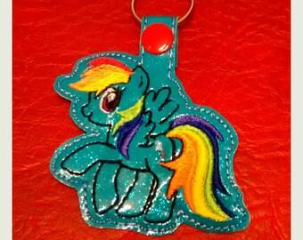 MLP Rainbow Pony Dash Keyring Keyfob
