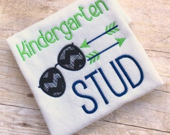 Back to School Embroidery Design - Back to School Applique - School Embroidery Design - Kindergarten Embroidery Design - Embroidery Saying
