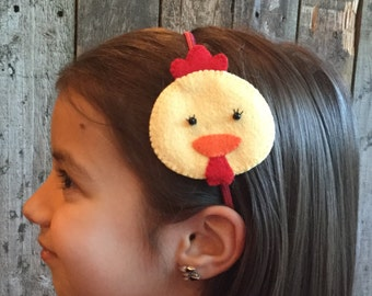 Chicken Headband - elastic band (from 100% recycled plastic bottle) -ocean blue