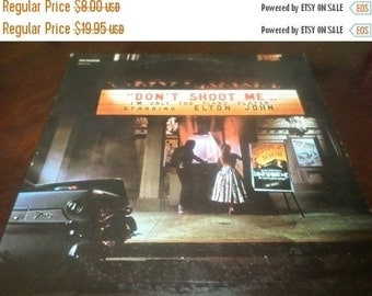 Save 30% Today Vintage 1973 LP Record Elton John Don't Shoot Me I'm Only The Piano Player Excellent Condition