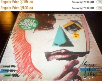 Save 30% Today Vintage 1984 LP Record Billy Squier Signs of Life Near Mint Condition In Shrink 3147
