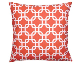 Pillowcase GOTCHA korall red white 40 x 40 cm chain patterns graphically
