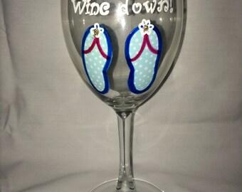 Feet up wine down wine glass