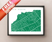 Fair Haven Map Art -  New Jersey Poster Print