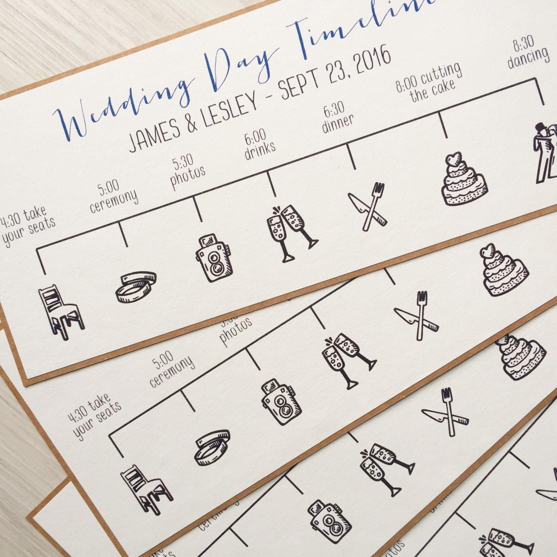 Wedding Timeline Order Of Events