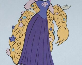 Rapunzel Full Length Die Cut - Disney's Tangled - Believing In Dreams