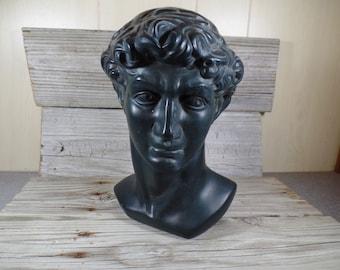 Unmarked Hand Sculpted Hand Painted Bust Of David Greek Mythology Greek Culture Fine Art Athena Roman Greek Warrior Sculpture Art Object