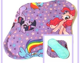Ponies Velour Mini Pad - Mama Cloth - My Little Pony - Blue
