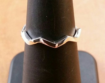 Sterling Silver Zig Zag Ring