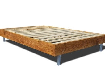 platform bed frame with metal legs modern and rustic bed simple wood bed frame - Wood Frame Bed