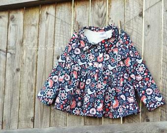 Coat - Pea Coat - Toddler Coat - Girls Coat - Winter Jacket - Little Girl Coat - Little Girl Jacket - Childrens Jacket - Ready To Ship
