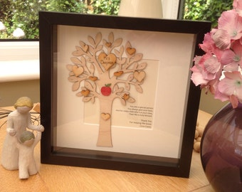 Personalised Teacher Appreciation Thank You - Framed Poem - Gift