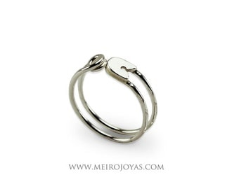 Safety Pin Ring Sterling Silver / Anillo Imperdible Plata 925