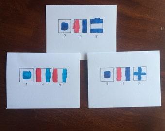 Nautical Flag greeting card