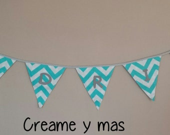 Customized bunting of fabric
