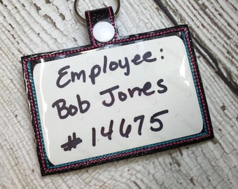 Top Loading ITH Employee Badge Holder  - 5 x 7 Only - Slip In - In The Hoop - DIGITAL Embroidery DESIGN