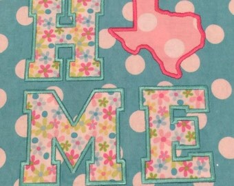 Texas HOME Applique - Lonestar State - 4 Sizes Included - Embroidery Design -   DIGITAL Embroidery DESIGN