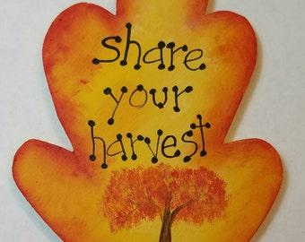 Sheep Leaf Magnet Share your harvest Teacher Gift Fall Autumn Harvest Hostess Gift Fall Decor  Kitchen Decor Gift idea Fall Colors Fall Tree