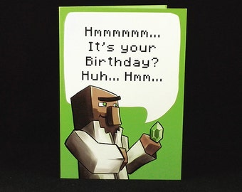 Villager Birthday Wishes - A6 Birthday Card