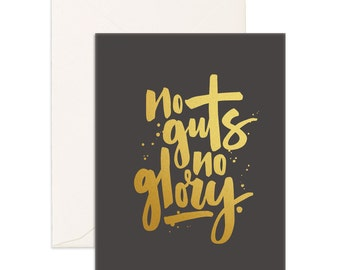 No Guts No Glory Greeting Card