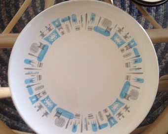 Royal China Blue Heaven 1960s Platter