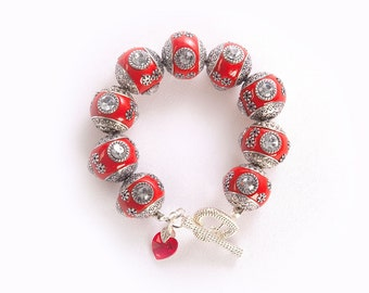 BellaGemaNails Red Chunky Bracelet