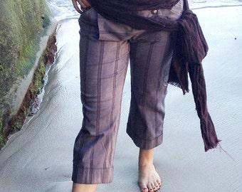Burgundy Stripe weathered Cotton Authentic Pirate Costume Sash