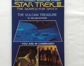 Star Trek III The Search for Spock - 1984 - Plot it Yourself - Paperback - Children - Adventure - Novel - Science Fiction