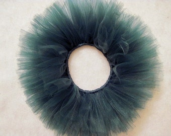 Baby Fall Tutu Photo Prop Size Newborn Hunter Green (in use photo of tutus in listing)