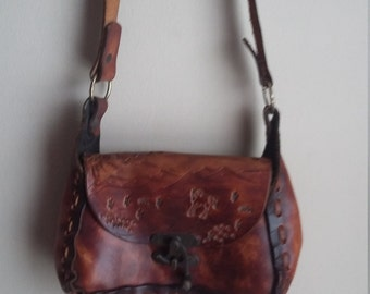Vintage leather hippe purse