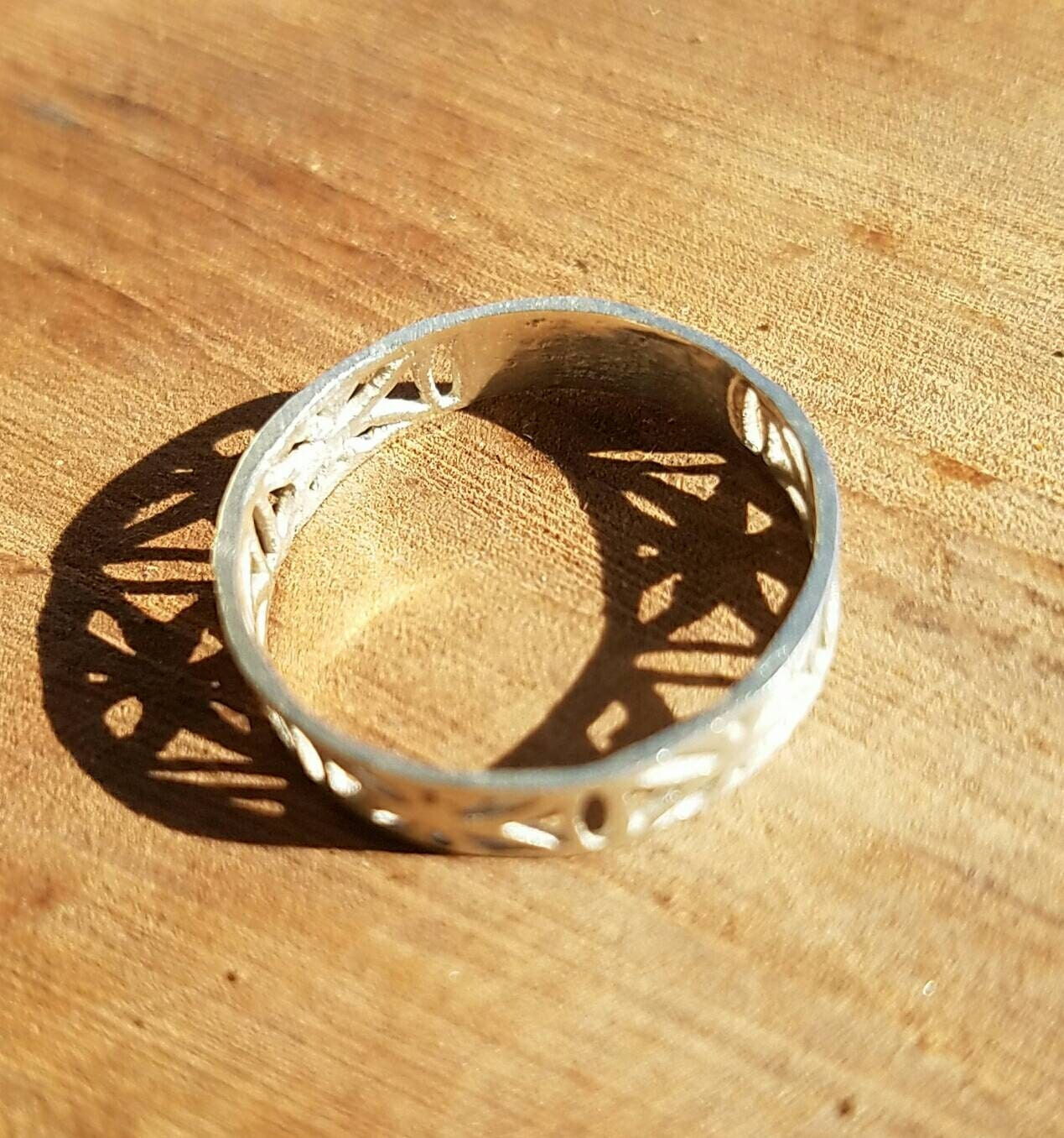 Flower of Life Filigree Ring in 100% Recycled 925 Sterling Silver