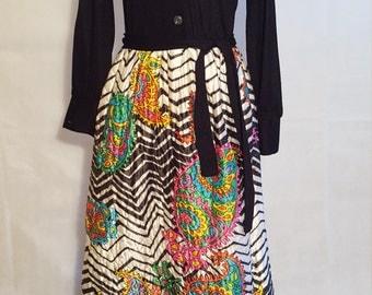 1960s/70s Paisley Maxi Dress