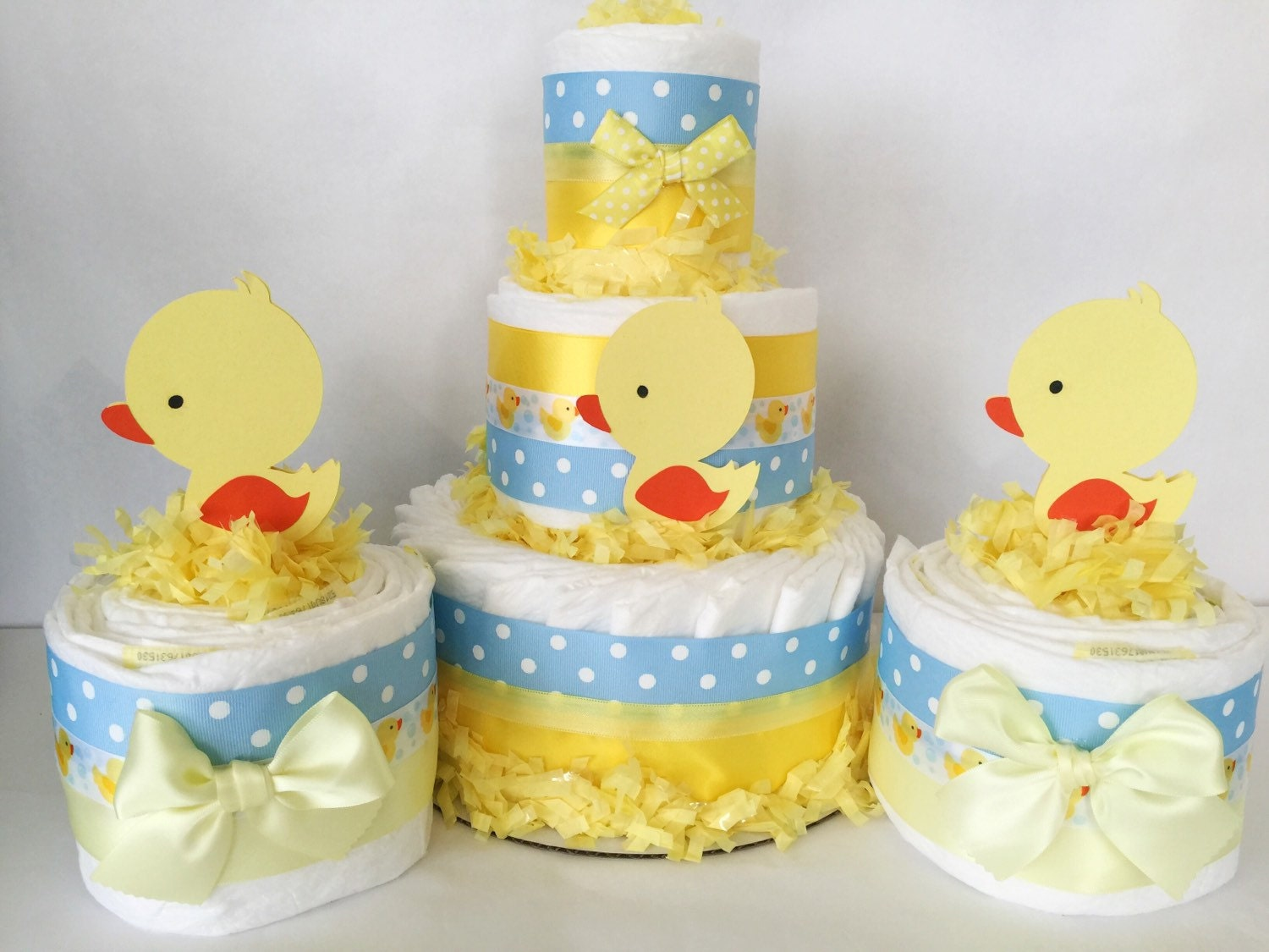 set of 3 rubber duck cakes rubber duck baby shower