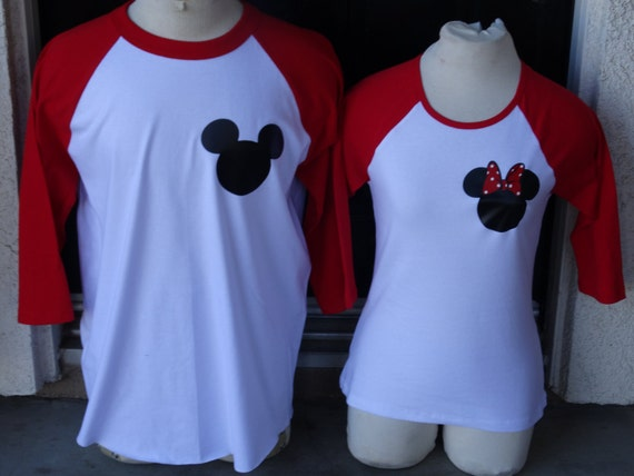 Free Shipping Disney Inspired Couples Baseball Tshirts Happily
