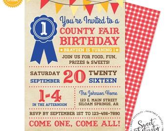 County Fair Printable Birthday Party Invitation