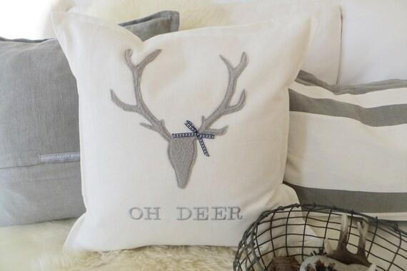 kissen hirsch oh deer im chalet stil. Black Bedroom Furniture Sets. Home Design Ideas