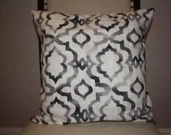 Home Decor Kelly Ripa Fabric, Good Vibes Ebony 12x16, 16x16, or 18x18