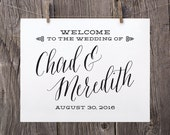 Printable Wedding Signs, Wedding Welcome Sign, Welcome To Our Wedding Sign, Black Wedding Reception Sign, Spring Summer Wedding Sign WS1BP