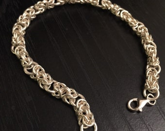 Silver Chainmaille Bracelet - Pure, Fine, .999 Silver