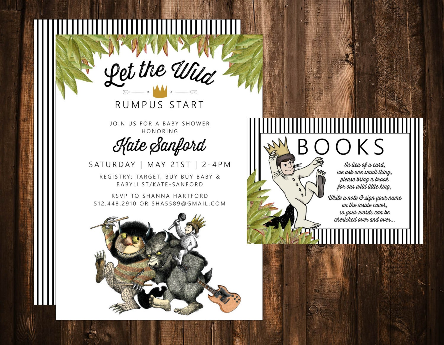 where the wild things are baby shower invitation by papernpeonies
