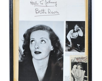 Bette Davis pair of Autographed Photos