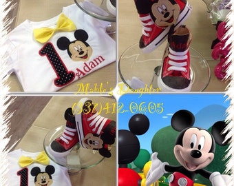 Mickey Mouse Boy's Converse and matching shirt