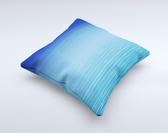 Calm Water ink-Fuzed Decorative Throw Pillow
