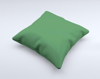 The Solid Hunter Green ink-Fuzed Decorative Throw Pillow