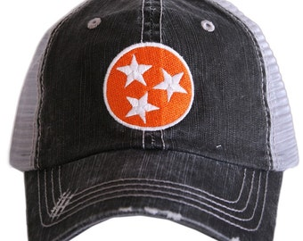 Tennessee Tri Star Hat ~ Tennessee Hat ~ Tennessee Volunteers Hat ~ Tennessee ~ Adorable ~ Christmas Gift